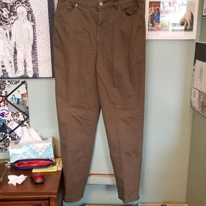 Jeans- Olive Green